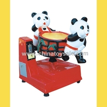 Shopping mall electric rocking machine / amusement park swing machine / panda coin operated kiddie ride for sale