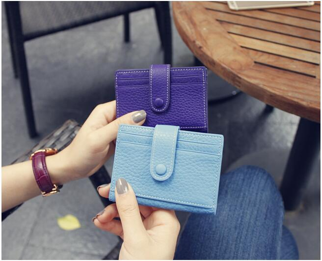 Custom small leather lady coin purse women wallet with low price