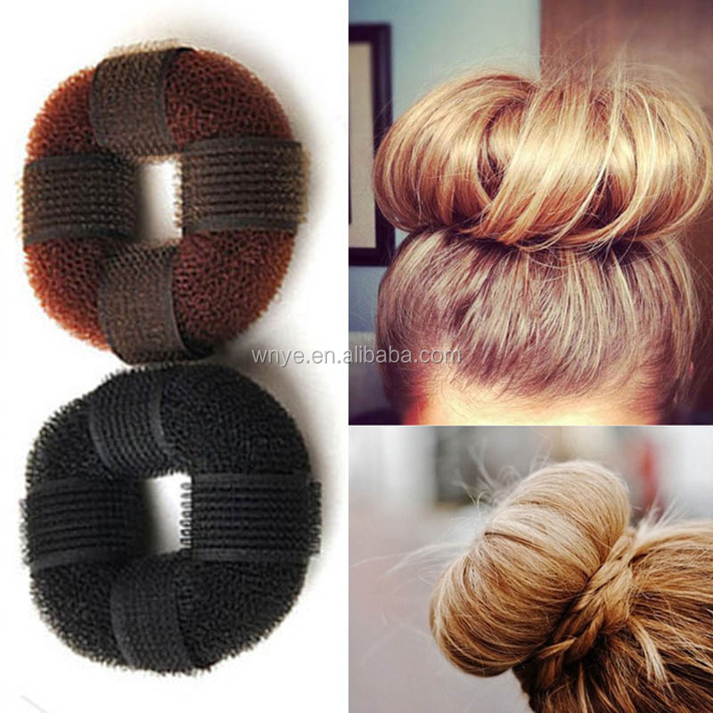 Yiwu Wholesale Magic Sticker Doughnut Hair Bun Tools