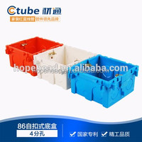 Fireproof Square PVC Electrical Switch Box