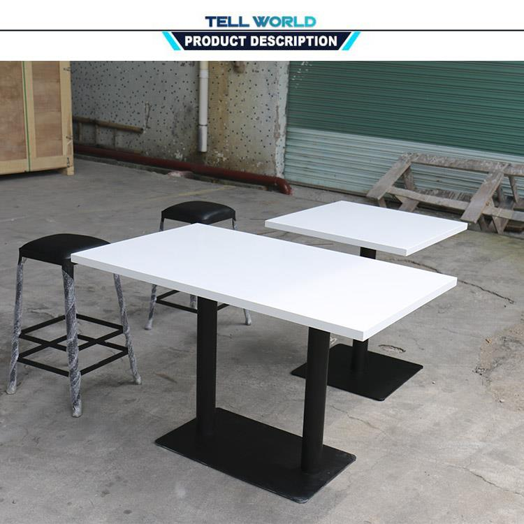 Tell World Custom Various Color Restaurant Furnitures Composite Stone Table  Tops
