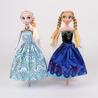 Retail 2016 Popular Frozen Doll Newest 2 Pcs Set Cute Anna Elsa Princesses Mini Baby Doll Action Figures Classic Toys CT40530-2