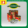 Fish Product Type and FDA,HACCP,ISO,HALAL,BRC Certification canned sardine brands