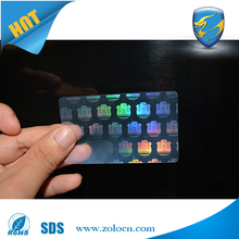 High quality transparent hologram running numbers stickers in sheet