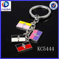 The girls like noble and elegant different color 3D metal handbag keychain