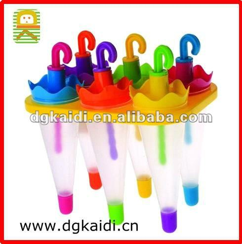 Funny umbrella shape colorful popsicle mould
