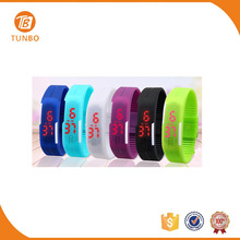 Colorful fashion cool unisex silicone teens cheap led watch