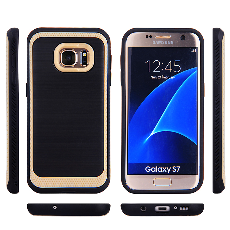 Dual Layer Design PC Bumper Brushed TPU Armor Case for Samsung Galaxy J5