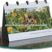 printable desk calendar 2012 2013 / photo paper Calendar 6:4/4R