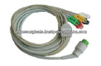 Fully Moulded 5 Lead PU ECG Cable