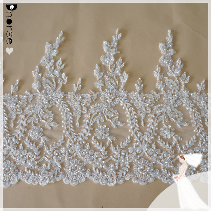Wholesale dresses guipure lace embroidered french bridal lace trim DHBL1677
