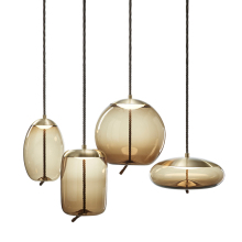 European style <strong>modern</strong> home decor ceiling glass LED pendant chandelier lamp