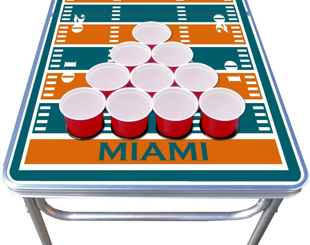 4 folding Aluminum party game beer pong table
