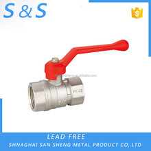 ISO9001 screw port thread double inside silk plastic ball valve dn15 from China