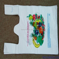 HDPE Printed T-shirt bags/PE Shopping plastic packing bags