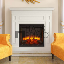 Modern White Sitting Room MDF Fire Surrounds Set