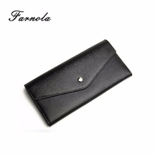 2017 Luxury custom genuine leather purse factory wholesale wallets for ladies