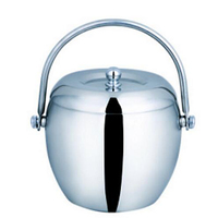 Stainless Steel Ice Bucket with handle and lid Ice Container Barware