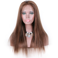 Premier Wigs Natural Straight 4 Color 18 Inch Indian Remy Human Hair Full Lace Wig For Black Women