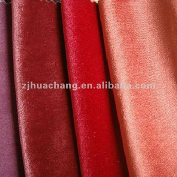 high quality plain dyed polyester spandex velvet fabric
