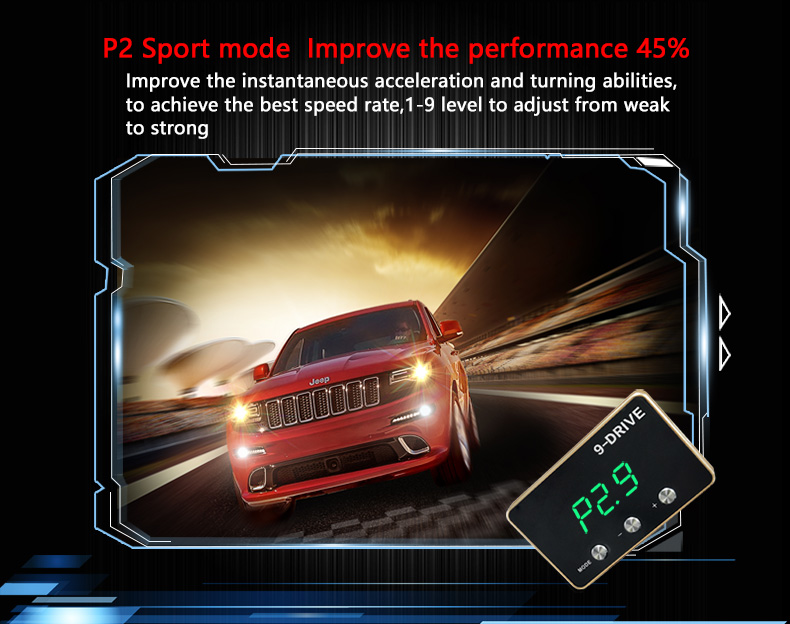 2017 New Accessories Car Ultra Boost 9-Mode Wind Booster Speed Boosting Fuel Saving Car Electronic Throttle Controller