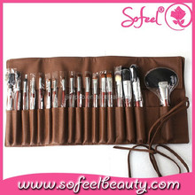 18pcs cosmetic applicator brush set with belt pouch