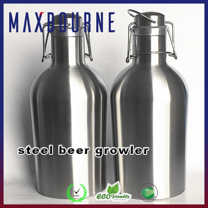 Wide Mouth Canteen Stainless Steel Insulated Water Bottle and Beer Growler