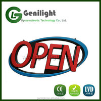 Led Open Oval Signs Neon Styles Large Letter Display Vivid Bright Color For Shop Store