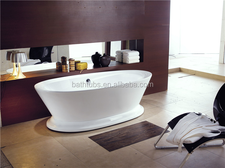 North American plastic bathtub cover,oval shape bathtub,curved bathtub