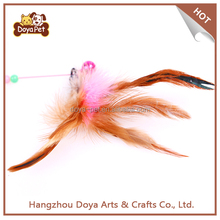 Wholesale Colored Feathers Funny Cat Teaser Sticks Toy