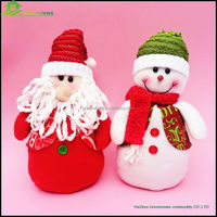 30CM Handmade Standing Santa Claus Plush Toy Decoration merry christmas words decoration promotional christmas gifts BGSY1055