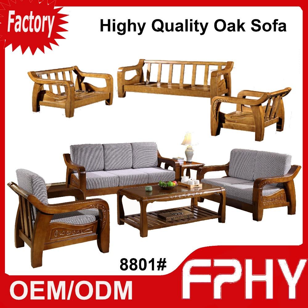 Fphy manufacturer 8801 oak solid wood frame fabrics cushion sectional luxury turkish furniture living room