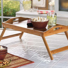 Bamboo Laptop table Bamboo Folding Breakfast In Bed Tray With Handles