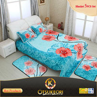 Home Textile--100% Polyester Korean Embossed Blanket 3D Bedspread