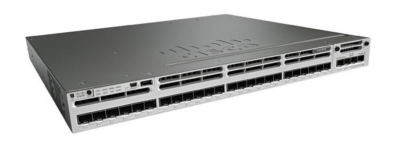 Original Cisco next generation WS-C3850-24S-E stackable enterprise level switch integrated 24 SFP ports IP service feature set