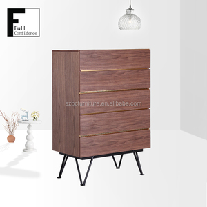 Wooden Furniture Home Storage Cabinet 5 Drawers Cabinet