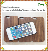 NEW Natural Walnut Wood Bamboo Wooden + PC Combo Hard Cover Case for iPhone 6