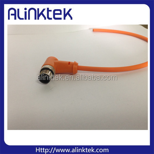 PVC jacket waterproof circular sensor M12wire and cable connector
