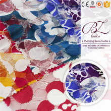 Top selling polyester microfiber african net bazin lace fabric