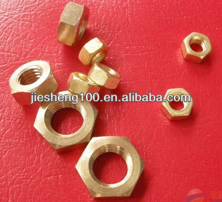 Hexagon brass nuts CHINA in alibaba