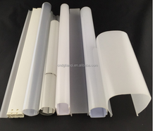 Extrusion Plastic Profile Led Tube Light Housing Led Light Bar Cover Polycarbonate Lamp Shade