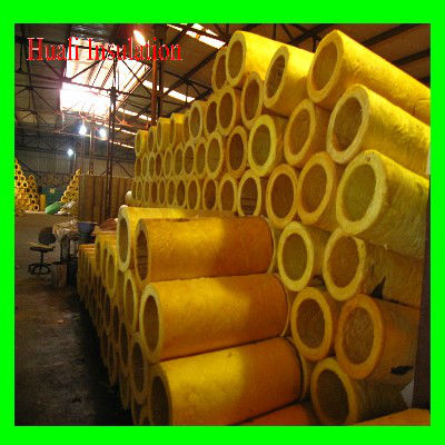 Glass wool sectional heat insulation pipe cover/ insulation material/glass wool pipe cover
