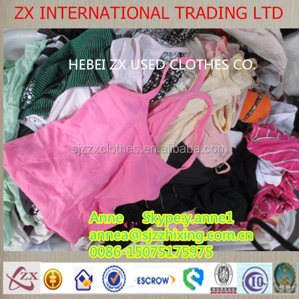 Bulk sorted second hand clothes export clothes in China second hand clothes cream