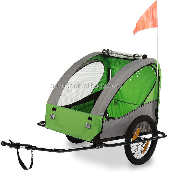 Bike Trailer Bicycle Pet Dog Puppy Shopping Stroller Jogger Carrier Ride(PT002)