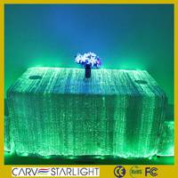 fiber optic luminous light up cocktail dining round table cover