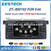 ZESTECH Dashboard placement single din Car dvd for BMW E46 Compatible with DVD/VCD/CD/CD-R/MP3/MPEG4//WMA/JPEG
