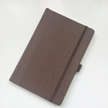 Embossed suede leather custom notebooks with pen holder