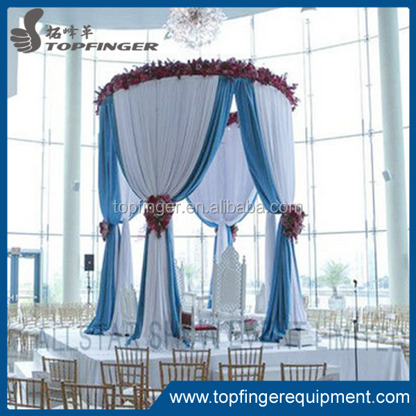 Romantic drapes circular pipe and drape for wedding party