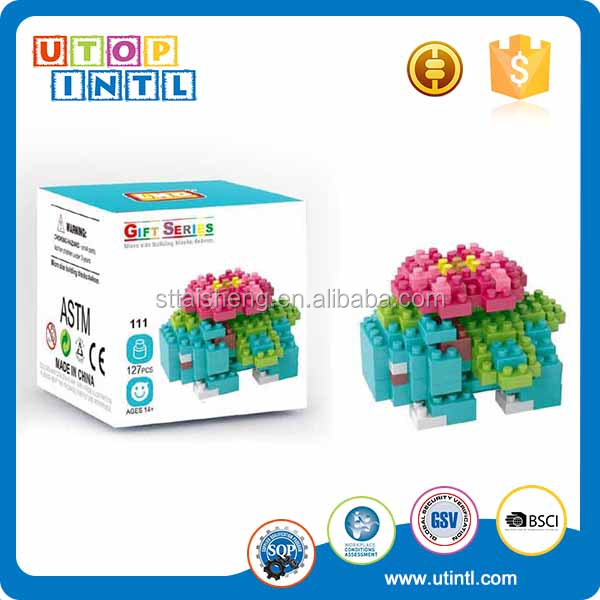 Flower Frog Pet Nano Diamond ABS Plastic Mini Building Block Toys