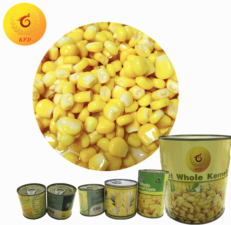 Crop Sweet Corn Kernels Vacuum Pack Canned Food Vegetable Corn Export Price